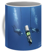 Technical Divers Ascend Near A Nitrox Coffee Mug by Karen Doody