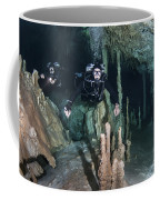 Technical Divers In Dreamgate Cave Coffee Mug