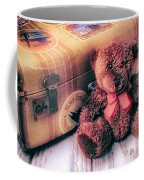 Teddy Bear And Suitcase Coffee Mug