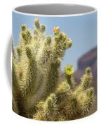Teddy Bear Cholla Cactus With Flower Coffee Mug