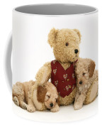Teddy Bear With Puppies Coffee Mug by Jane Burton
