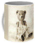 Teddy With Daffodils - Toned Coffee Mug