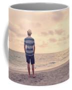 Teen Boy On Beach Coffee Mug