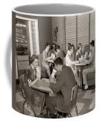 Teens At A Diner, C. 1950s Coffee Mug