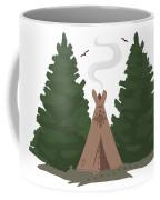 Teepee In The Woods Coffee Mug