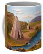 Teepees On The Plains Coffee Mug