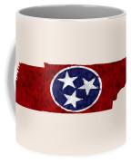 Tennessee Map Art With Flag Design Coffee Mug