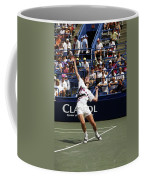 Tennis Serve Coffee Mug by Sally Weigand