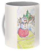 Tennis Snowlady Coffee Mug