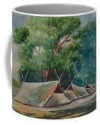 Tents Under Tree Coffee Mug