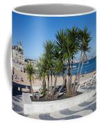 Terrace Promenade At Ribeira Beach In Cascais Coffee Mug