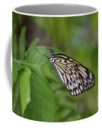 Terrific Capture Of A Paper Kite Butterfly On A Leaf Coffee Mug