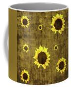 Test Rustic Sunflower Custom Coffee Mug