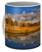 Teton Fall Foliage And Fog Coffee Mug