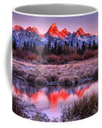 Teton Reflections In The Frosted Willows Coffee Mug