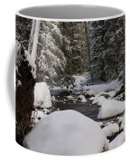 Teton River In Winter Coffee Mug