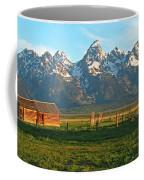 Tetons And Cabin Coffee Mug
