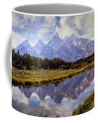 Tetons At The Landing 1 Coffee Mug