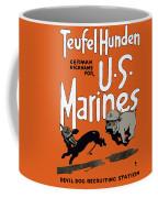 Teufel Hunden - German Nickname For Us Marines Coffee Mug