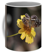 Texan Crescent Butterfly On Marigold-img_1348-2016 Coffee Mug