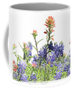 Texas Bluebonnets And Red Indian Paintbrushes Coffee Mug
