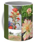 Texas Indian Paintbrush Collage Coffee Mug
