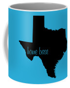 Texas Is Home Base Black Coffee Mug
