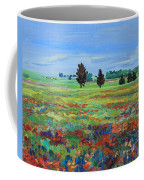 Texas Landscape Bluebonnet Indian Paintbrush Explosion Coffee Mug