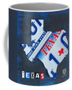 Texas License Plate Map Coffee Mug