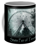 Texas Star Aqua Poster Coffee Mug
