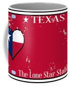 Texas State License Plate With Damage Coffee Mug