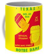 Texas Vs Notre Dame 1934 Program Coffee Mug