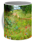Texas Wildflowers And Cactus - Country Road Coffee Mug