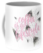 Text Art Coffee Is A Lifestyle Coffee Mug