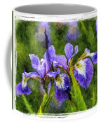 Textured Bearded Irises Coffee Mug
