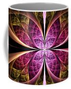 Textured Flower Coffee Mug