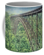 Textured New River Gorge Bridge Coffee Mug