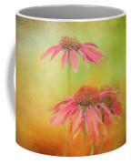 Textured Orange Daisies Coffee Mug