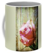 Textured Pink Red Rose Coffee Mug