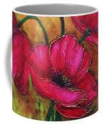 Textured Poppies Coffee Mug