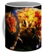 Textured Wolf Coffee Mug