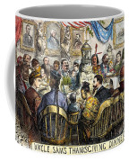 Thanksgiving Cartoon, 1869 Coffee Mug