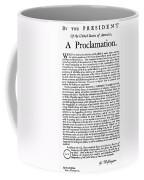 Thanksgiving Proclamation Coffee Mug by Granger
