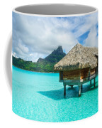Thatched Roof Honeymoon Bungalow On Bora Bora Coffee Mug