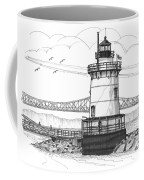 The 1883 Lighthouse At Sleepy Hollow Coffee Mug by Richard Wambach