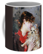 The Actress Rejane And Her Dog Coffee Mug by Giovanni Boldini