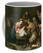 The Adoration Of The Shepherds Coffee Mug by Bartolome Esteban Murillo