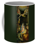 The Adoration Of The Shepherds Coffee Mug by Federico Zuccaro