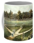 The American National Game Of Baseball Grand Match At Elysian Fields Coffee Mug