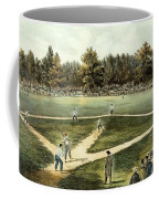 The American National Game Of Baseball Grand Match At Elysian Fields Coffee Mug by Currier and Ives